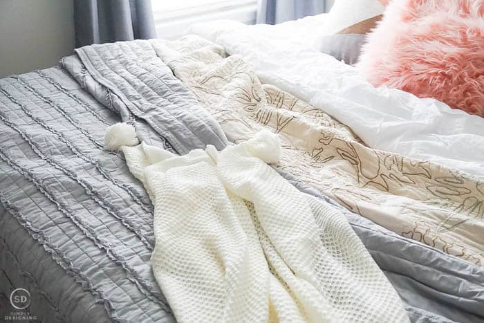 Layer Bedding on your Bed - so inviting and cozy