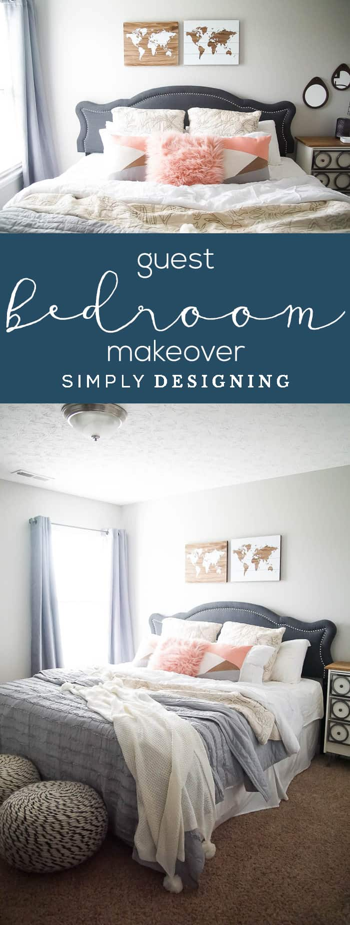 Guest Bedroom Makeover - How to make a Guest Room Comfortable