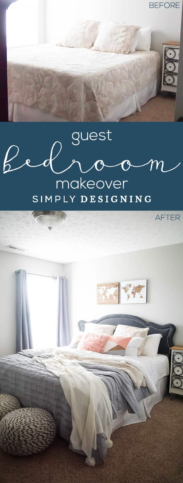 Guest Bedroom Makeover - before and after
