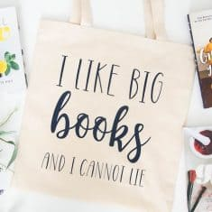 How to add vinyl to a tote bag for the library