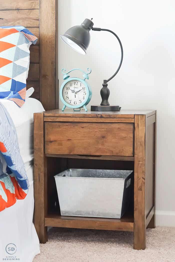 Nightstand for boy bedroom makeover - #ad #BHGLiveBetter #BHGatWalmart @BHGLiveBetter