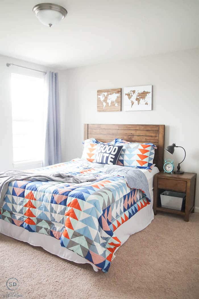 AFTER Cool Boy Bedroom Idea - #ad #BHGLiveBetter #BHGatWalmart @BHGLiveBetter