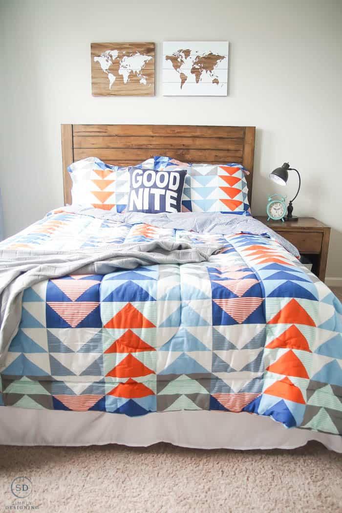 Boy Bedroom idea on a budget - #ad #BHGLiveBetter #BHGatWalmart @BHGLiveBetter