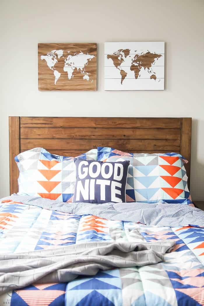 world art in boy bedroom - #ad #BHGLiveBetter #BHGatWalmart @BHGLiveBetter