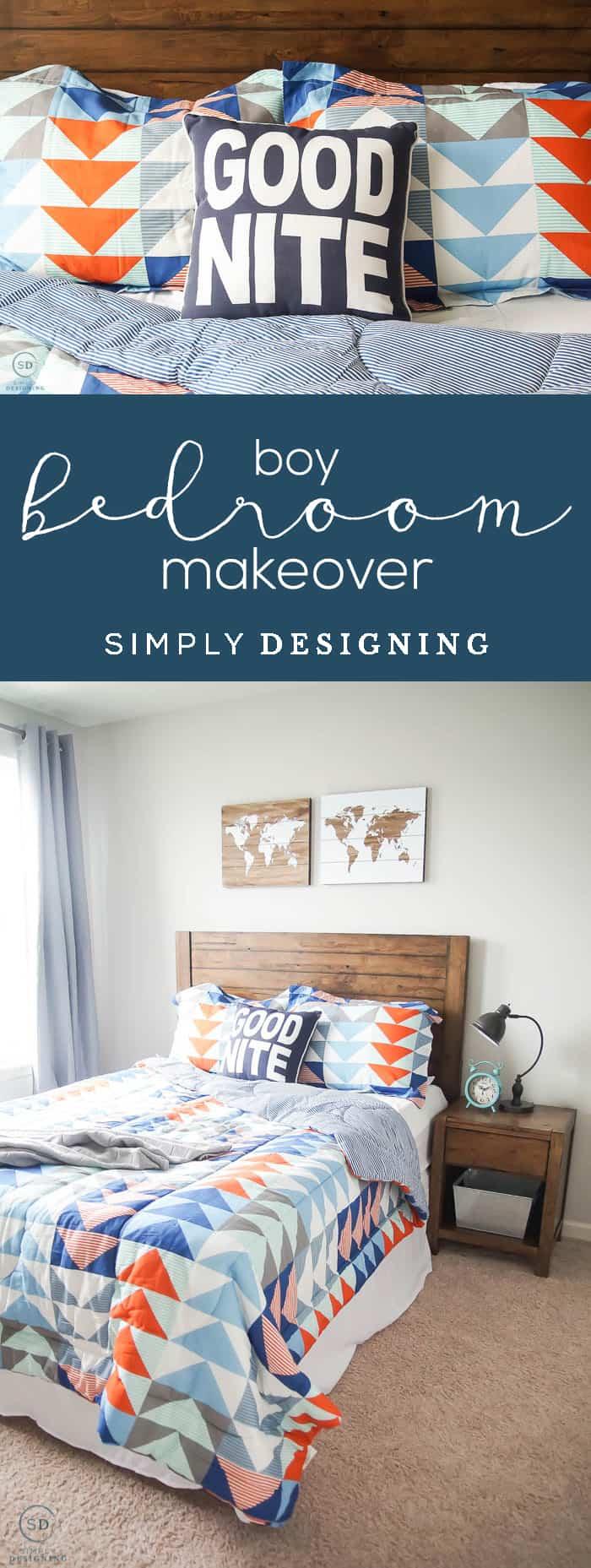 Easy and Cool Boy Bedroom Idea - Boy Bedroom Makeover - boy bedroom idea on a budget - awesome boy bedroom idea - #ad #BHGLiveBetter #BHGatWalmart @BHGLiveBetter @walmart
