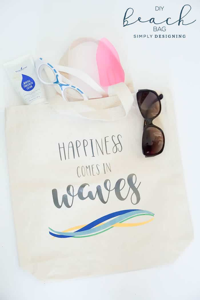 DIY Beach Bag - DIY Beach Tote - Vinyl Beach Bag