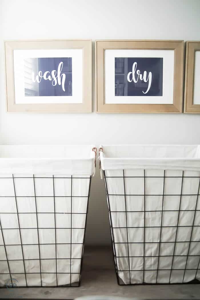 Wire laundry baskets