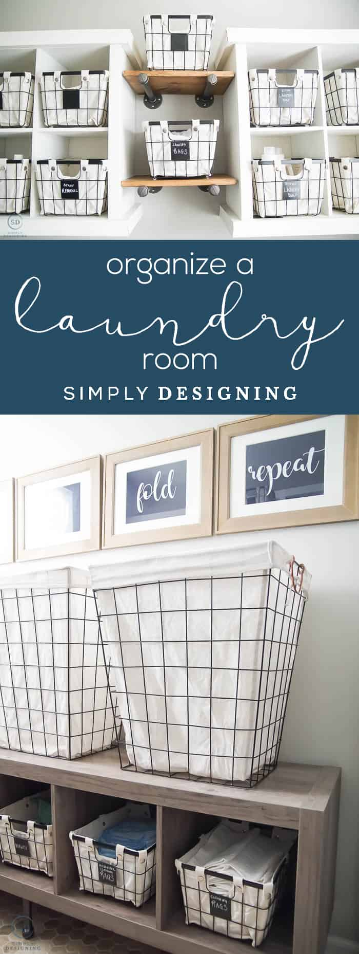 How to Organize a Laundry Room - Laundry Room Makeover