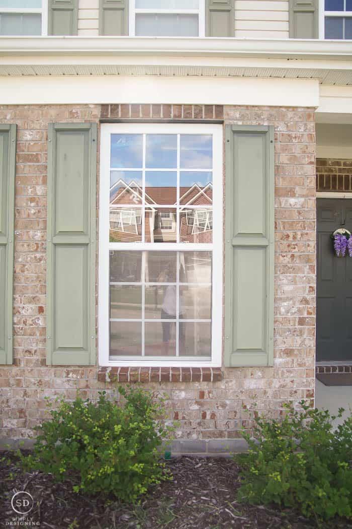 Faded shutters