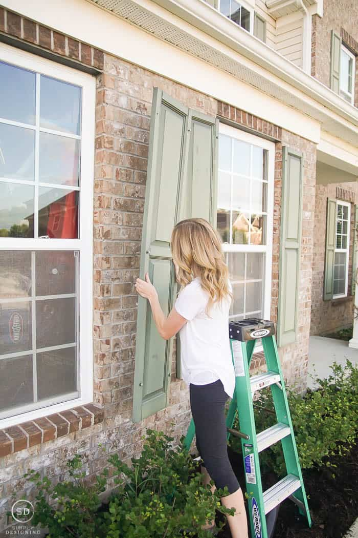How To Paint Shutters And A Front Door Simply Designing With Ashley