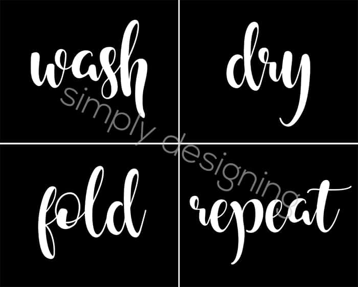 FREE Laundry Room Prints