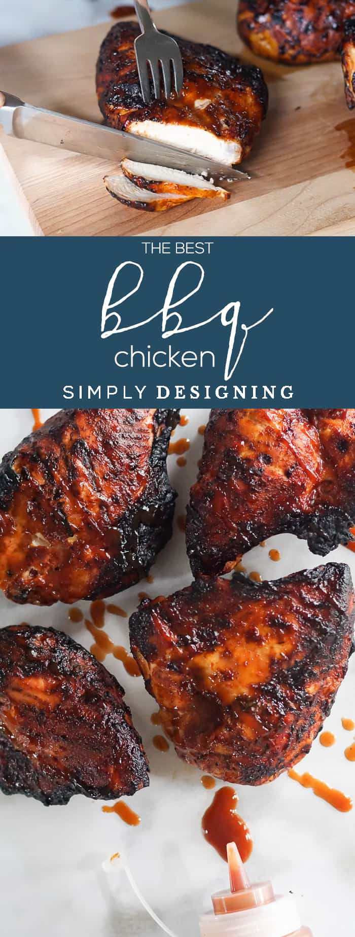 The BEST BBQ Chicken - this grilled chicken recipe is full of delicious bbq flavor and is so easy to make