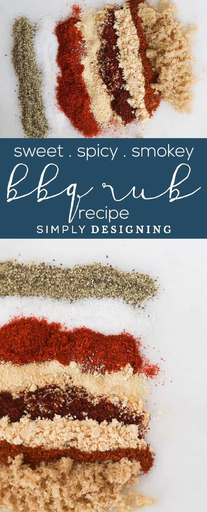 The BEST Sweet Spicy and Smokey BBQ Rub Recipe - an easy to make BBQ Rub recipe that will give your meat a delicious BBQ flavor