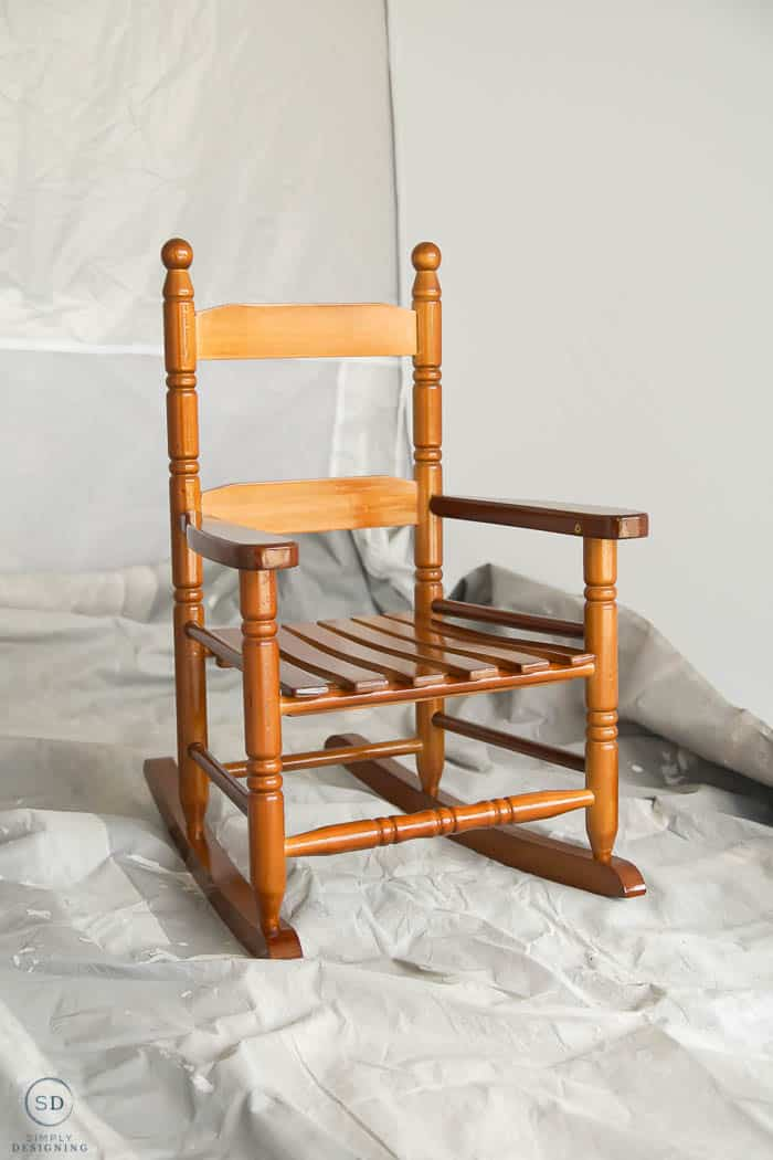 How to Repaint Furniture without Sanding - BEFORE
