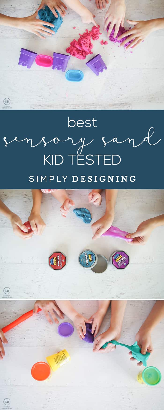 The BEST Sensory Sand - Kid Tested - kinetic sand vs slime vs putti vs play doh - which is squishiest messiest and overall best