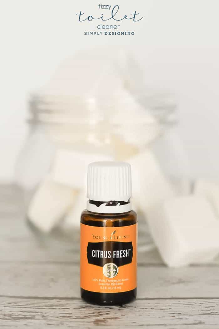 Citrus Fresh Essential Oil used in fizzy toilet cleaner