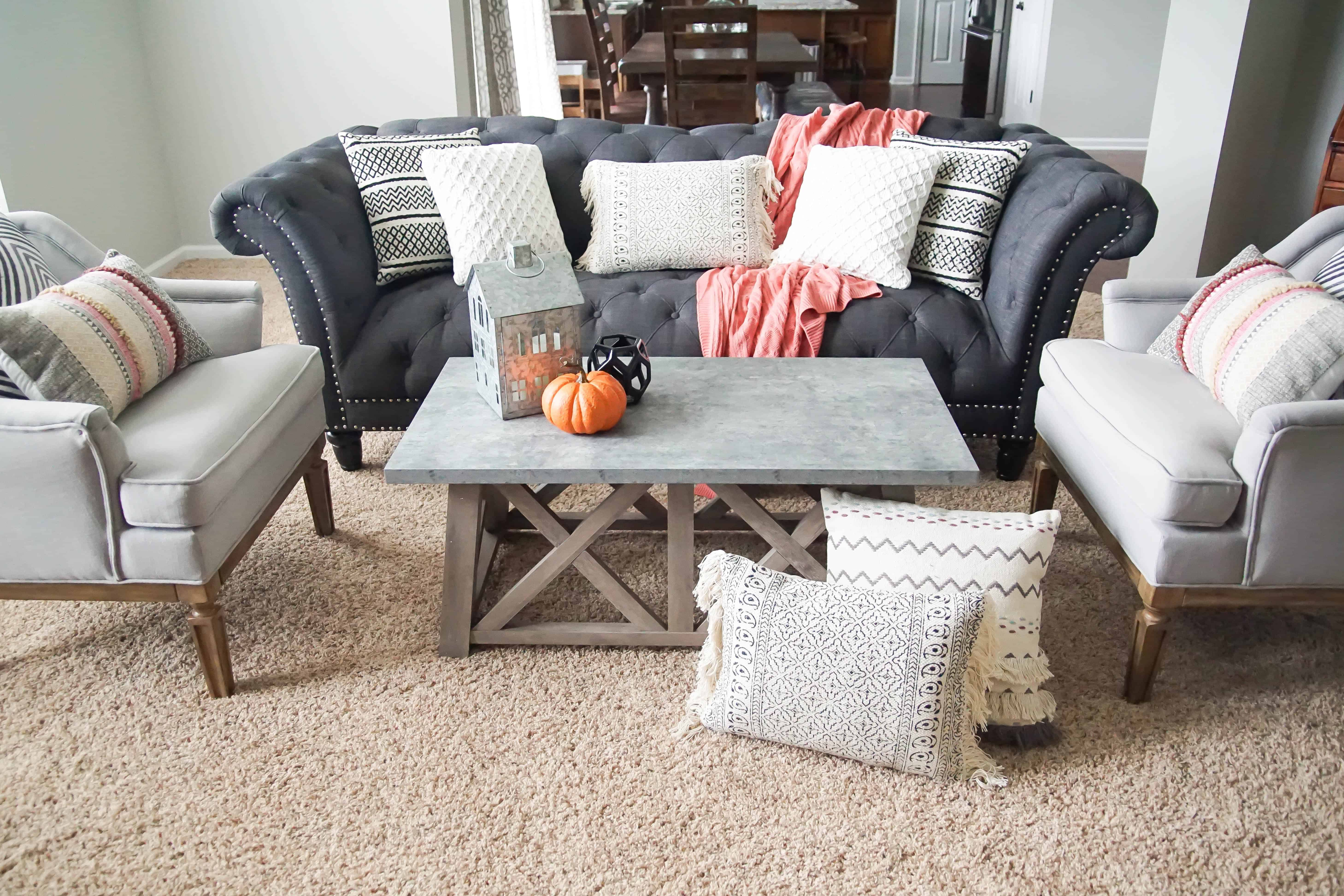 after - fall family room makeover