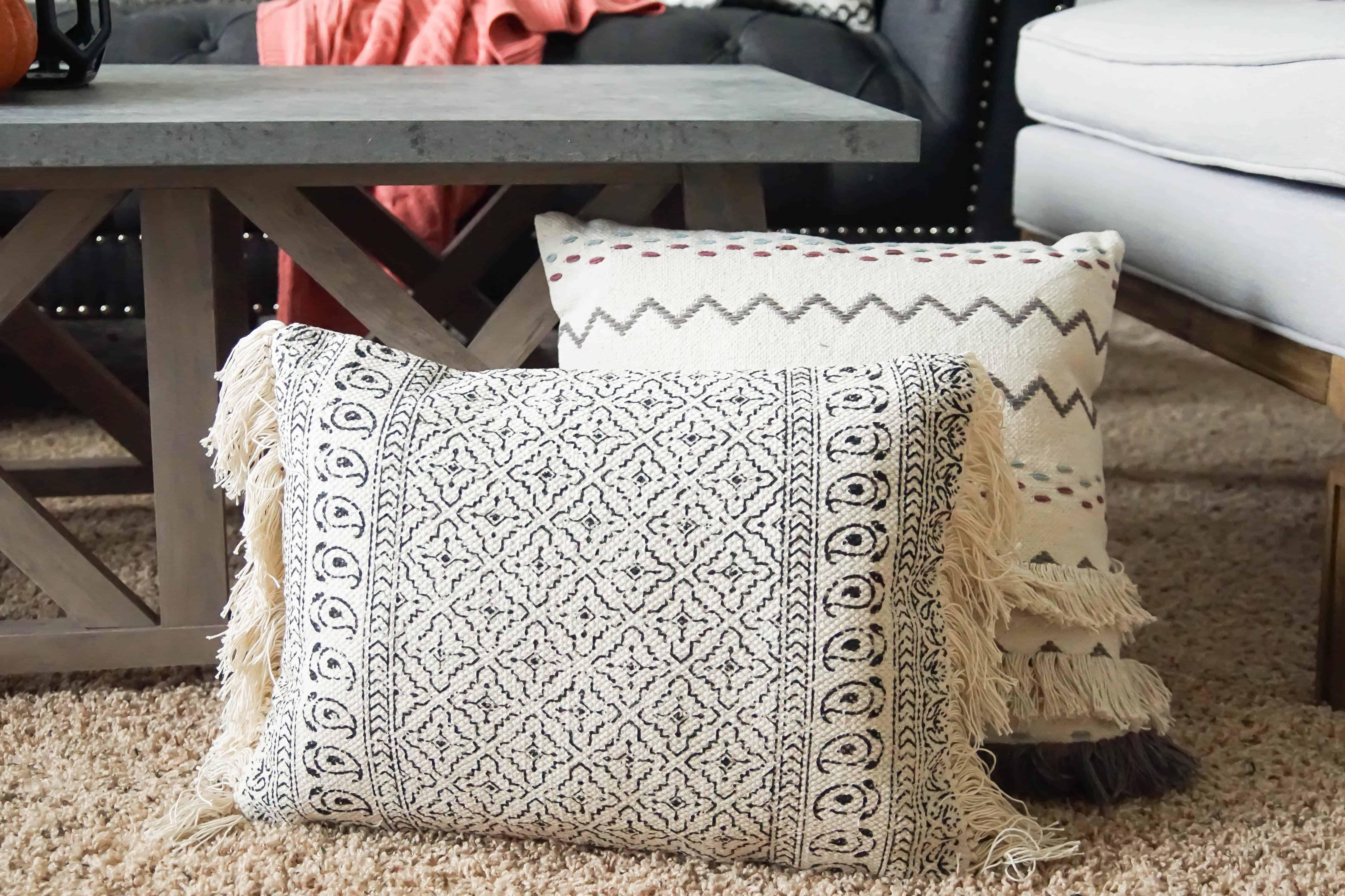 extra pillows on floor