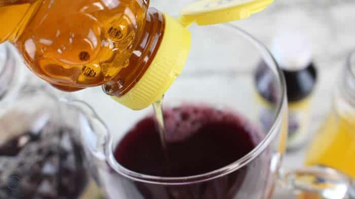 add honey to elderberry popsicles