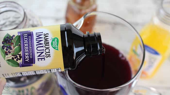 add elderberry syrup to elderberry popsicles