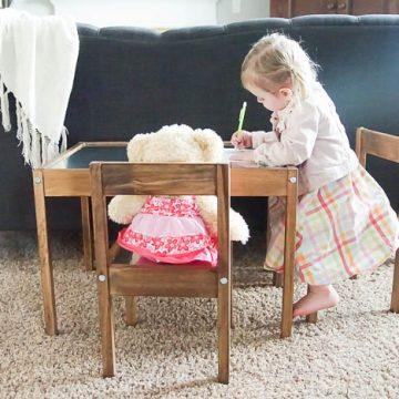 IKEA Hack Industrial Kids Table