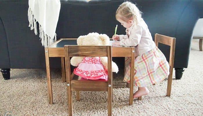 IKEA Hack : Industrial Kids Table