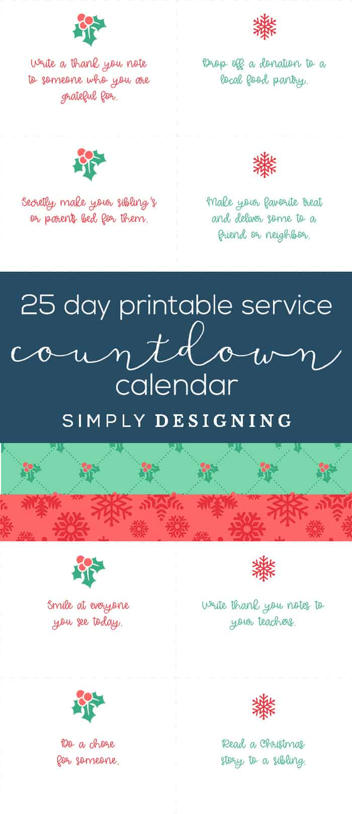 picture relating to Free Printable Countdown Calendar identified as Farmhouse Xmas Decorations + Printable Countdown Calendar