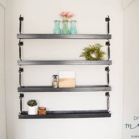 How to Make Industrial Metal Shelves