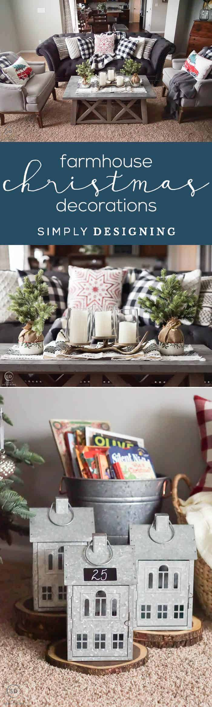 Farmhouse Christmas Decorations that are easy and inexpsneive - free printable countdown calendar