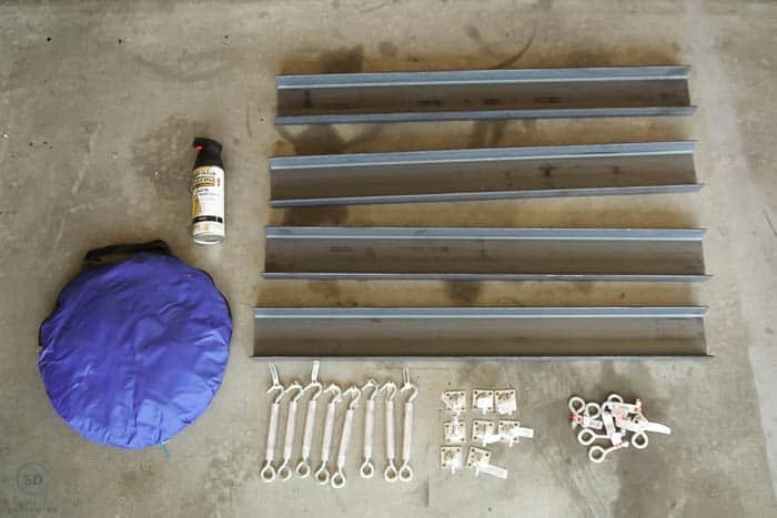 Supplies to make metal shelves