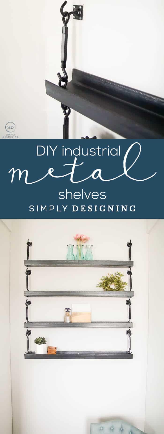 How to Make Industrial Metal Shelves - DIY Industrial Metal Shelves - DIY Metal Shelves