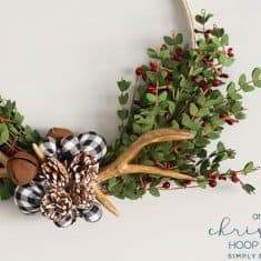Antler Christmas Wreath