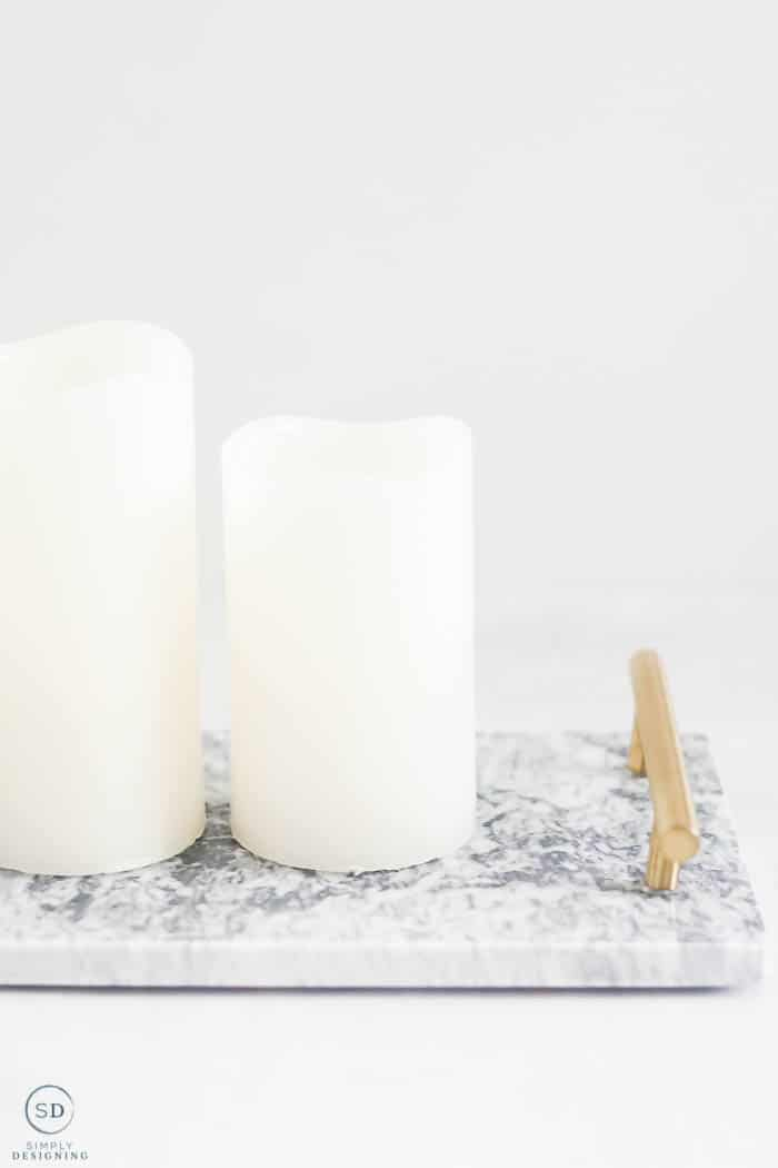 Christmas Gift Ideas Under $25 : marble and gold tray
