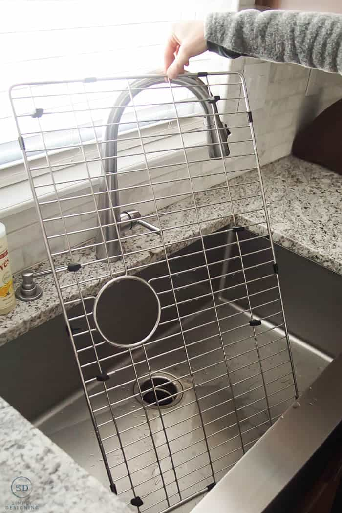 kitchen sink grid held up