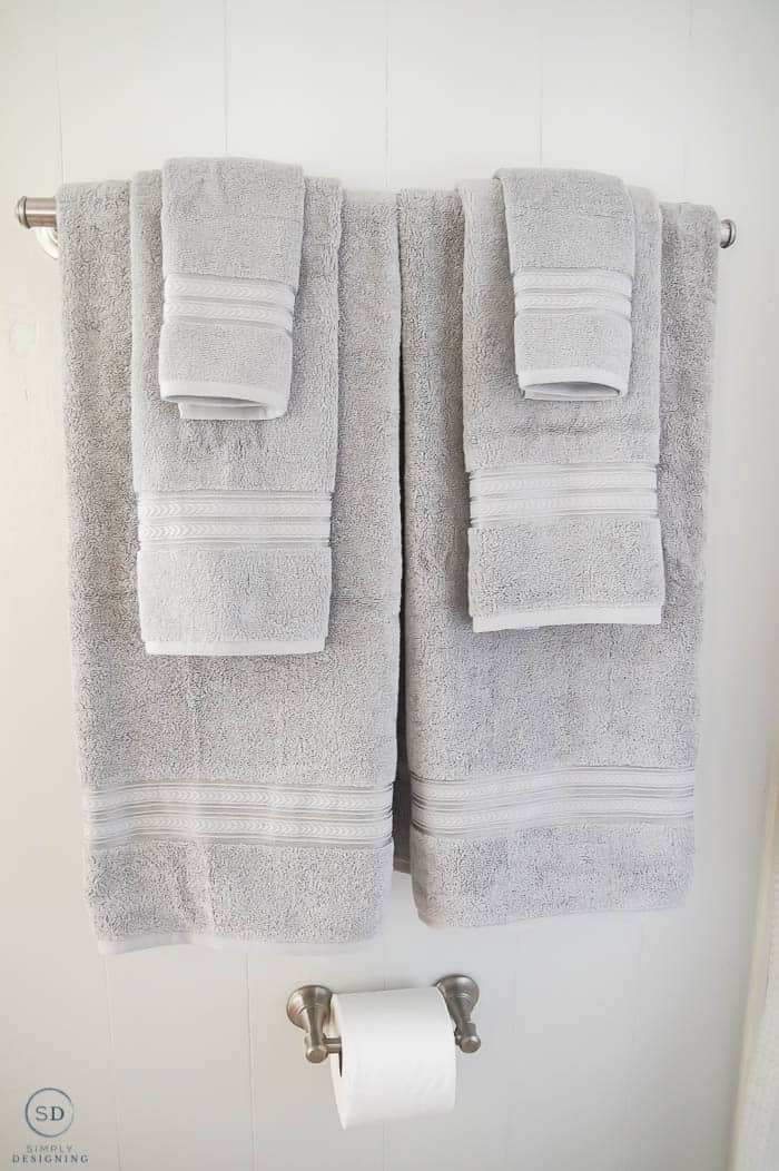 Gray towels