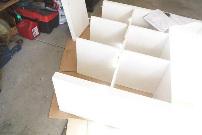 put together cube storage
