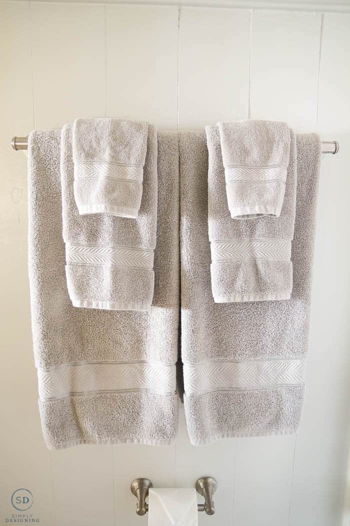 new grey towels