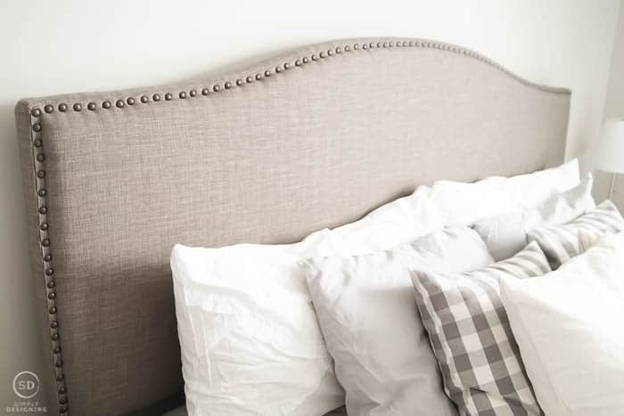 master bedroom makeover headboard
