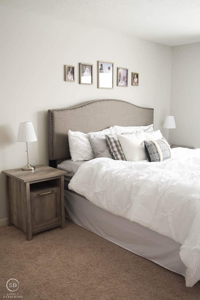 Cozy white master bedroom makeover