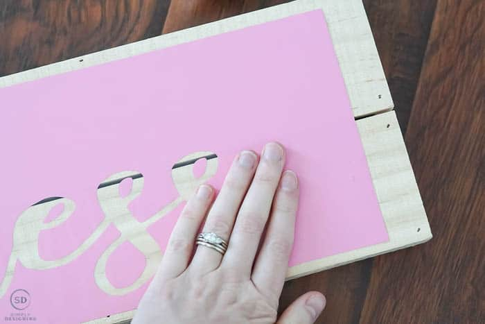 apply vinyl to wood board