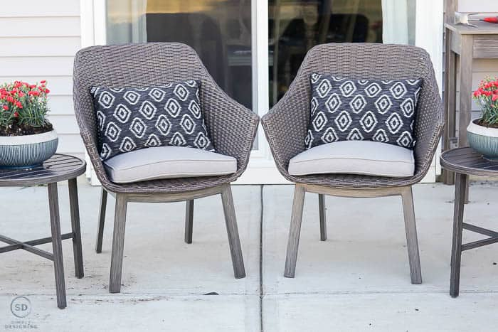 patio chat set