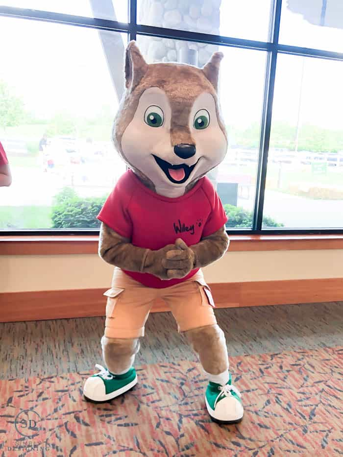 meeting the characters at Great Wolf Lodge