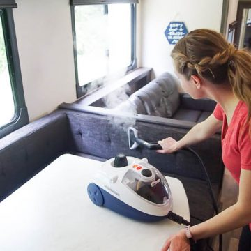 clean and sanitize an RV or travel trailer