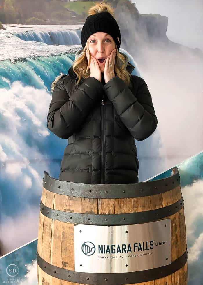 Photo booth at Niagara Falls Visitor Center