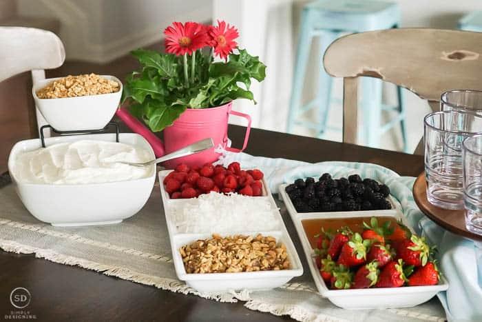 yogurt parfait bar topping ideas