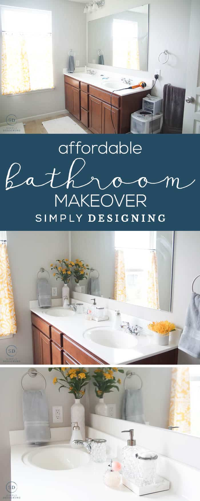 Affordable Master Bathroom Makeover - this budget-friendly bathroom makeover is so easy to do and looks amazing