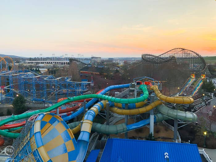 Hershey Park at sunset