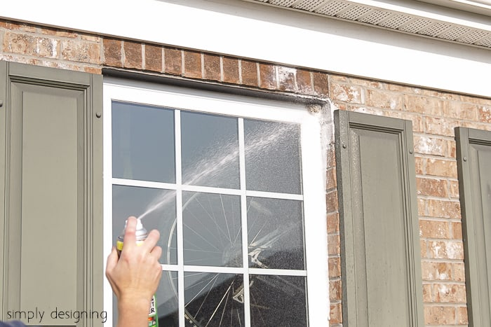 How to kill wasps nest: step one, spray wasp nest with wasp killing spray.