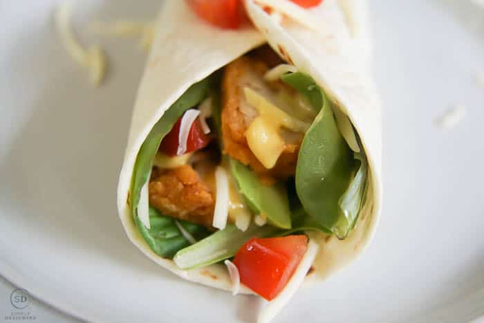 a delicious and easy to make chicken wrap