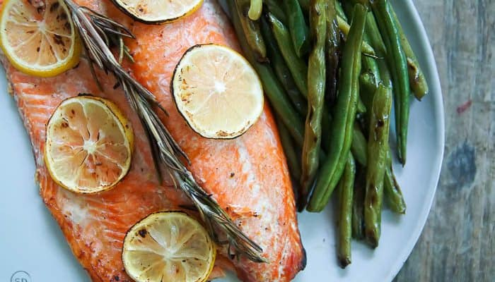 Honey Lemon Grilled Salmon